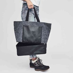 New! DSW Felt Tote Bag
